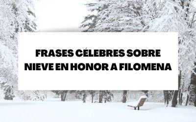 Frases célebres de nieve para recordar la borrasca Filomena